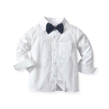 Hemd mit Punkten Muster und Schleife vorn