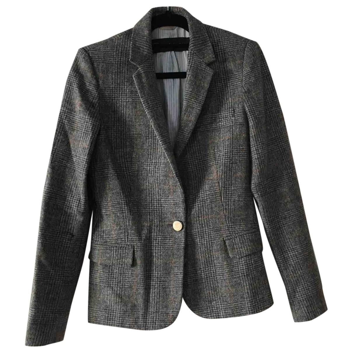 Zara \N Jacke in  Braun Wolle