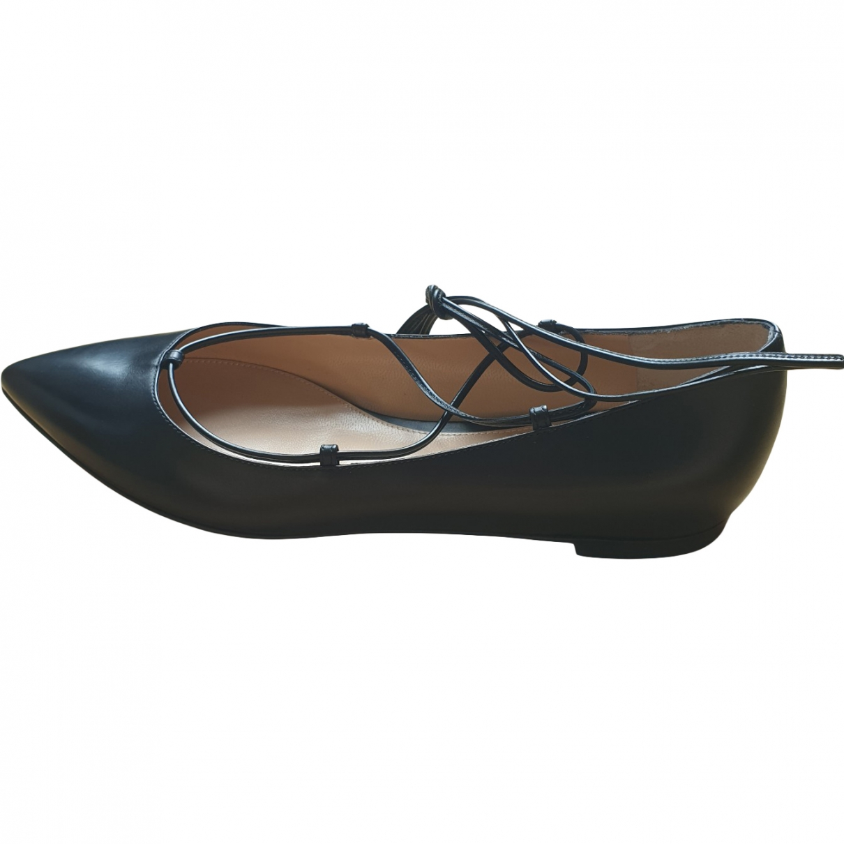 Gianvito Rossi \N Black Leather Ballet flats for Women 37.5 EU
