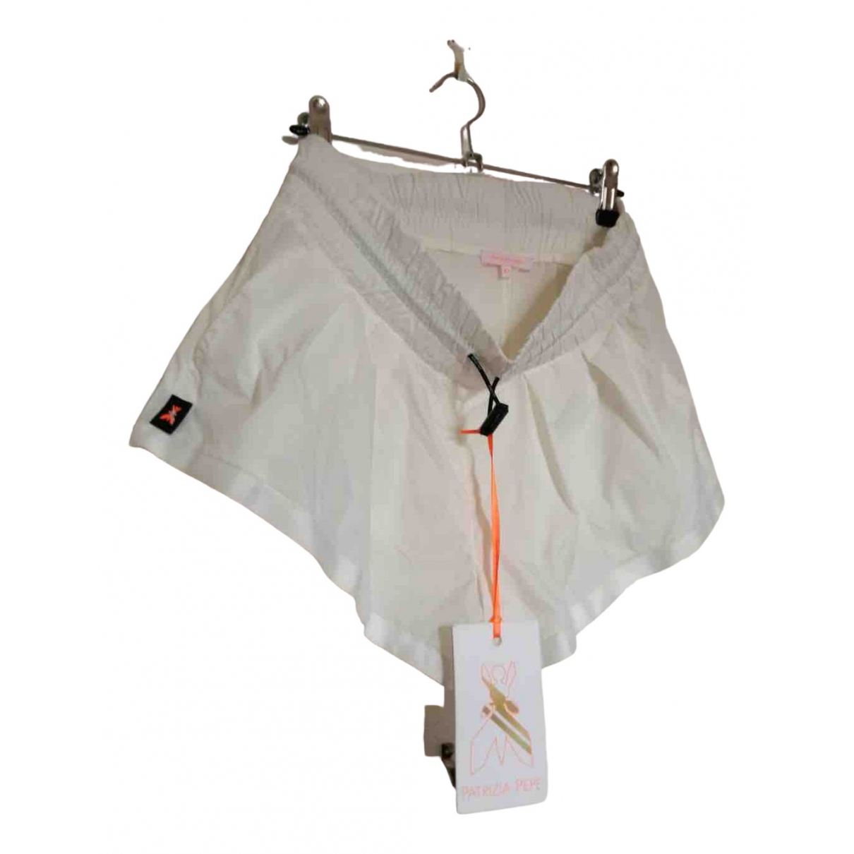 Patrizia Pepe \N Shorts in  Weiss Polyester