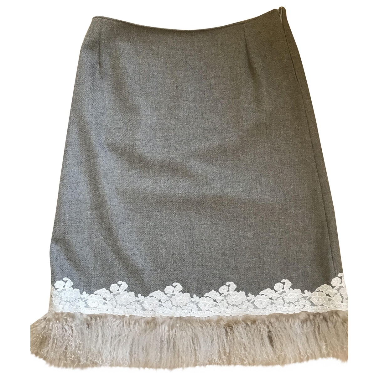Ermanno Scervino - Jupe   pour femme en laine - beige