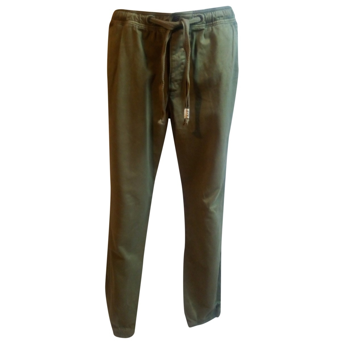 Abercrombie & Fitch \N Green Cotton Trousers for Men L International