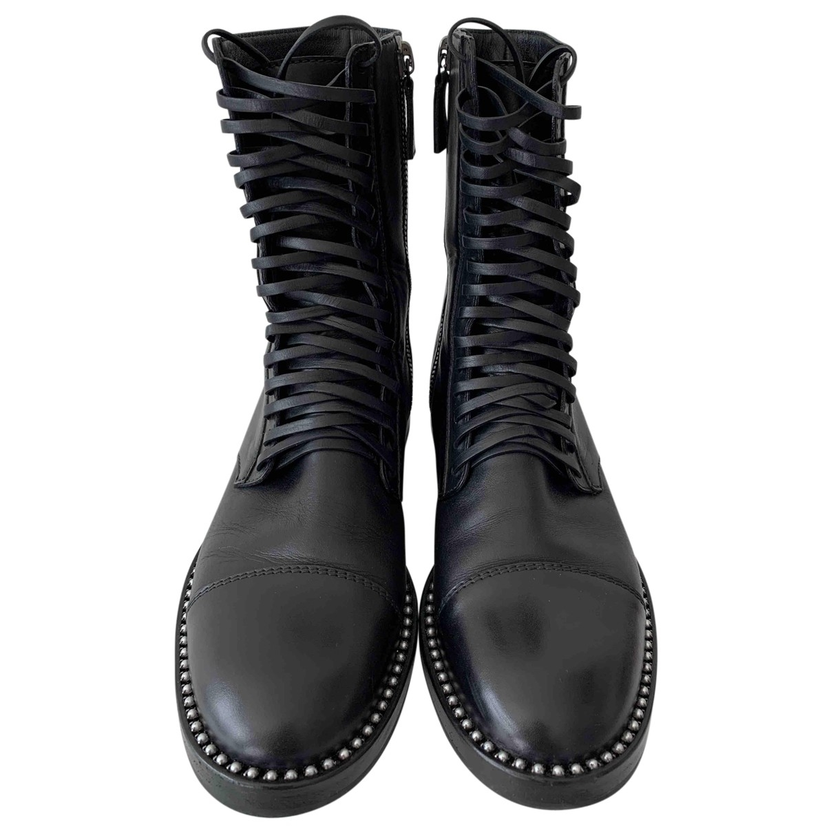 Casadei \N Black Leather Boots for Women 39 EU
