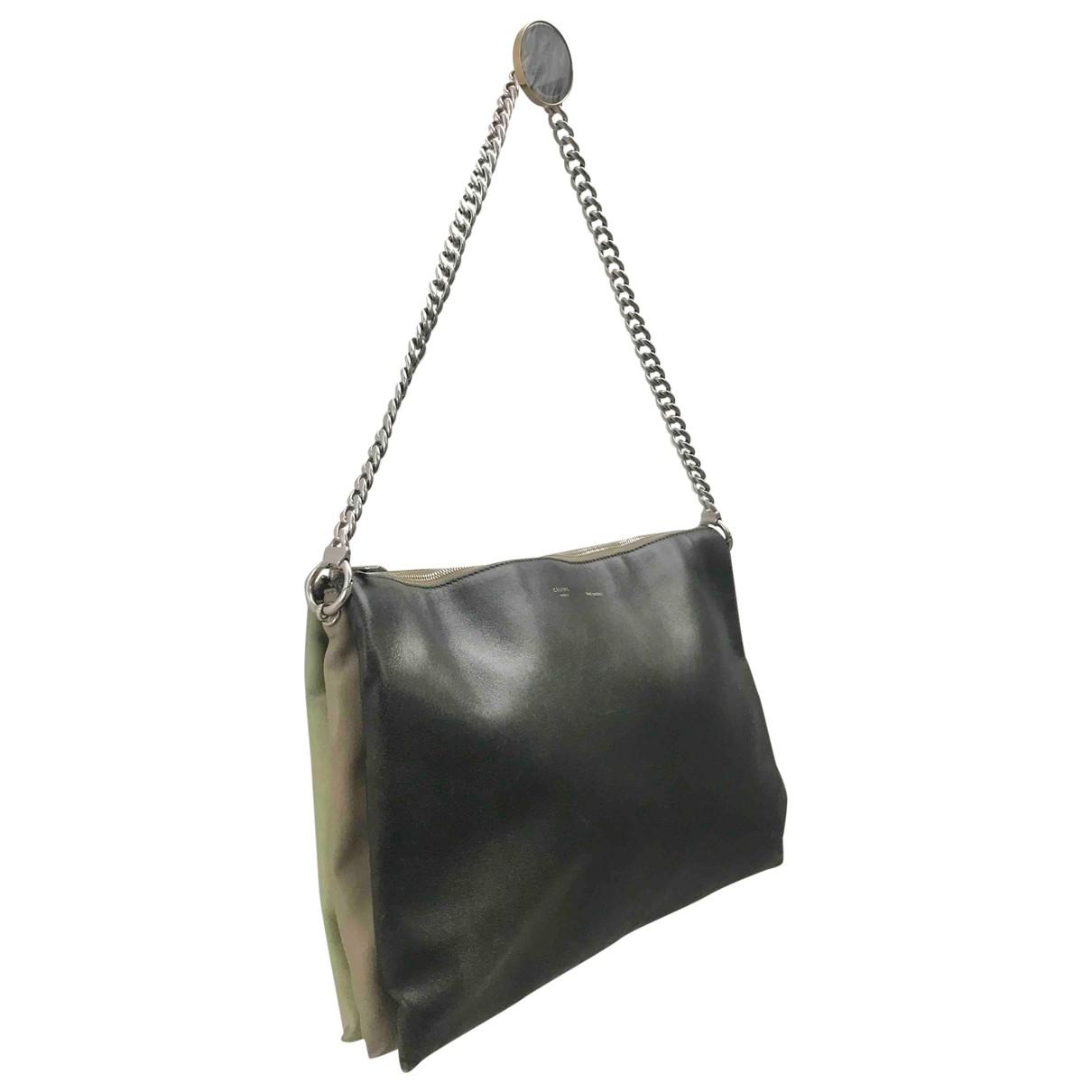 Celine Trio Green Leather handbag for Women \N