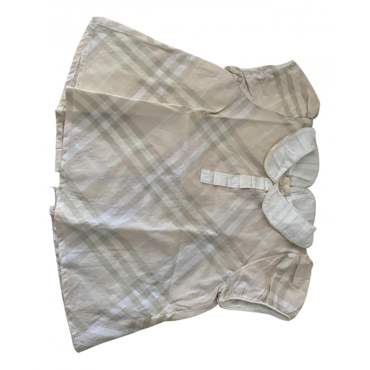 Burberry - Pull   pour enfant en coton - rose