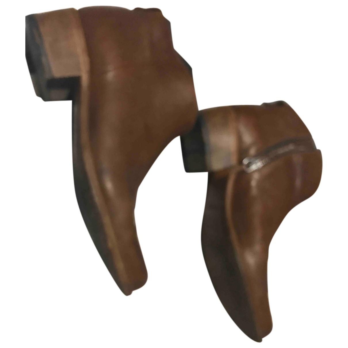 Heschung - Boots   pour femme en cuir - camel