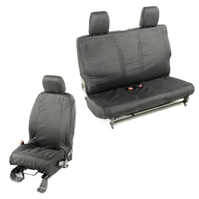 Rugged Ridge Elite Ballistic Seat Cover Set (Black) - 13256.03
