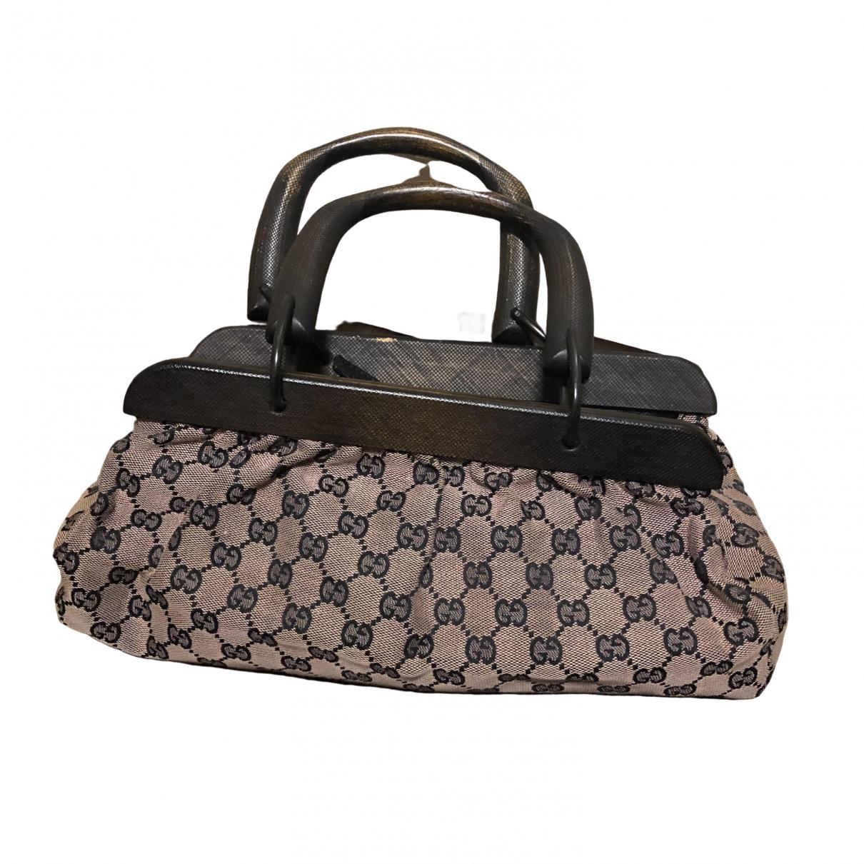Gucci \N Handtasche in  Braun Leinen