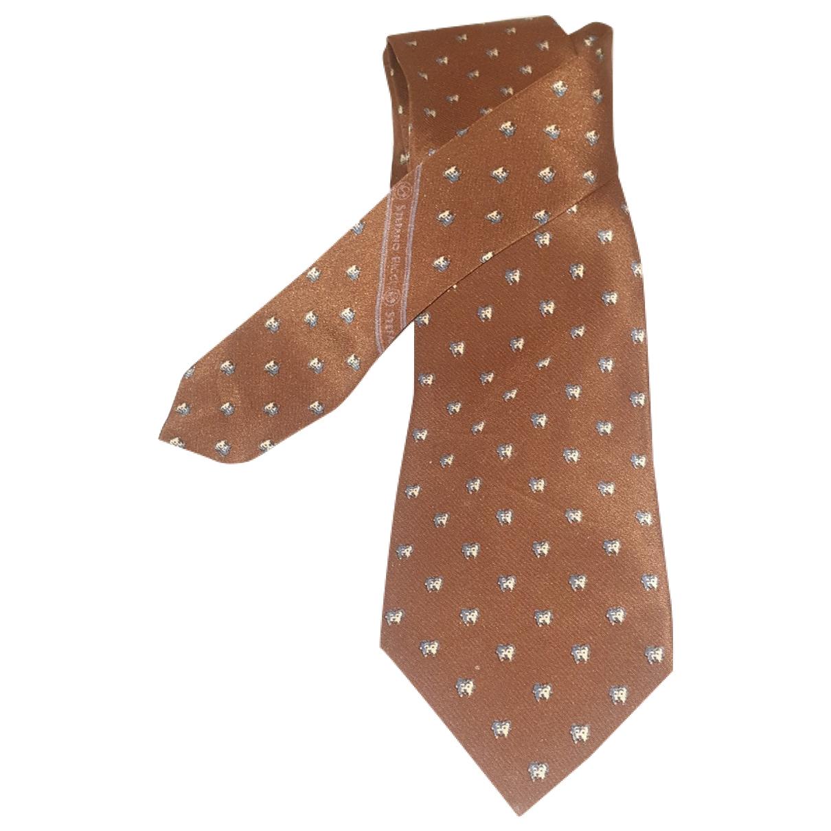 Stefano Ricci - Cravates   pour homme en soie - marron