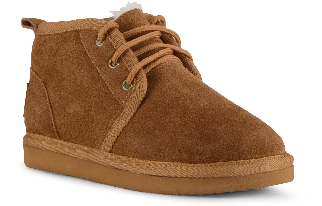 Women's Sequoia Slipper-Shoe (Choose Your Color: CHESTNUT/CREAM, Choose Your Size: 9.0)