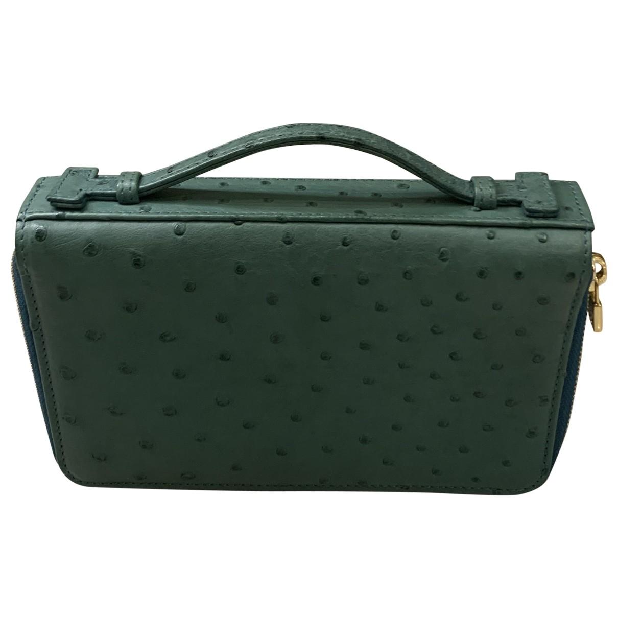 Loro Piana \N Ostrich wallet for Women \N