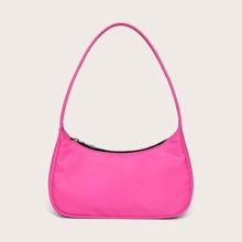 Neon Hot Pink Baguette Bag