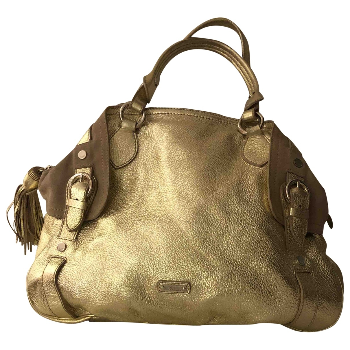 Moschino \N Gold Leather handbag for Women \N