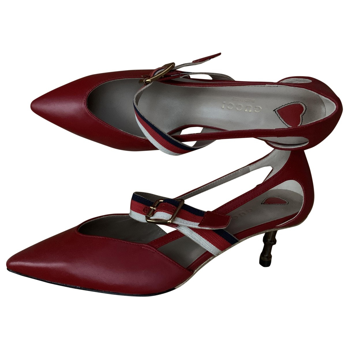 Gucci \N Red Leather Heels for Women 36 EU