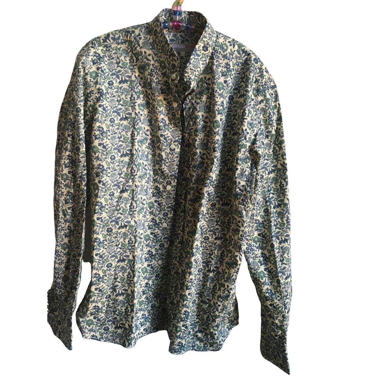 Non Signe / Unsigned \N Hemden in  Blau Baumwolle