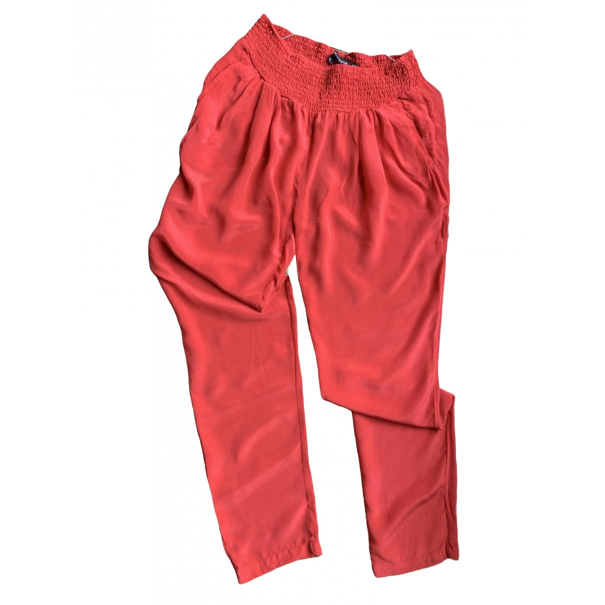 Antik Batik \N Pink Silk Trousers for Women 38 FR