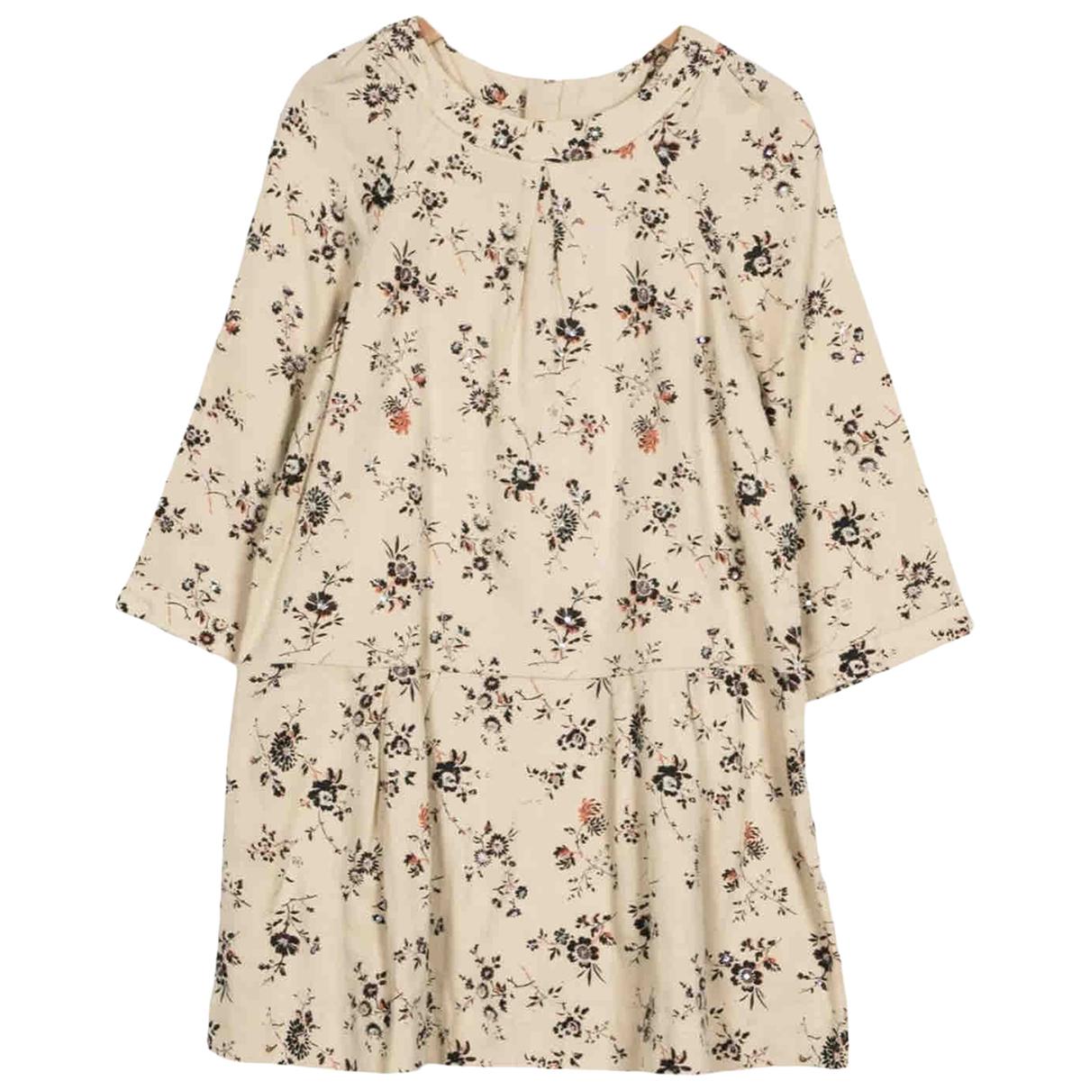 Bonpoint \N Kleid in  Ecru Wolle