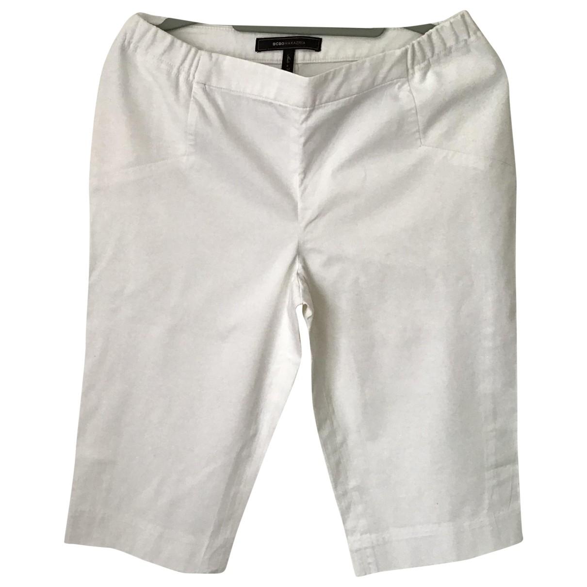 Bcbg Max Azria - Short   pour femme en coton - blanc