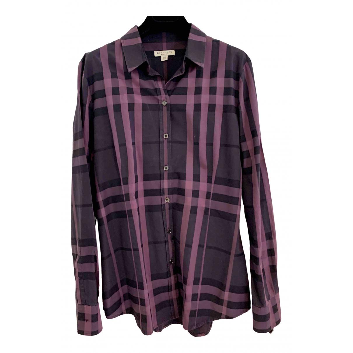 Burberry \N Purple Cotton  top for Women 12 UK
