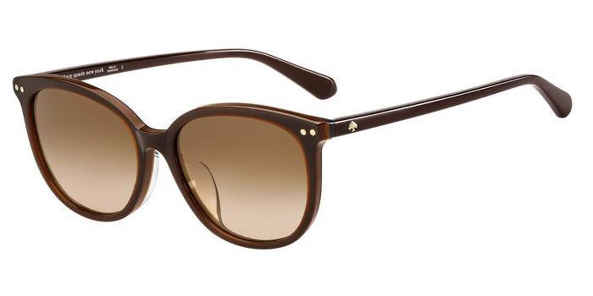 Kate Spade ALINA/F/S Asian Fit 09Q/HA Women's Sunglasses Brown Size 55