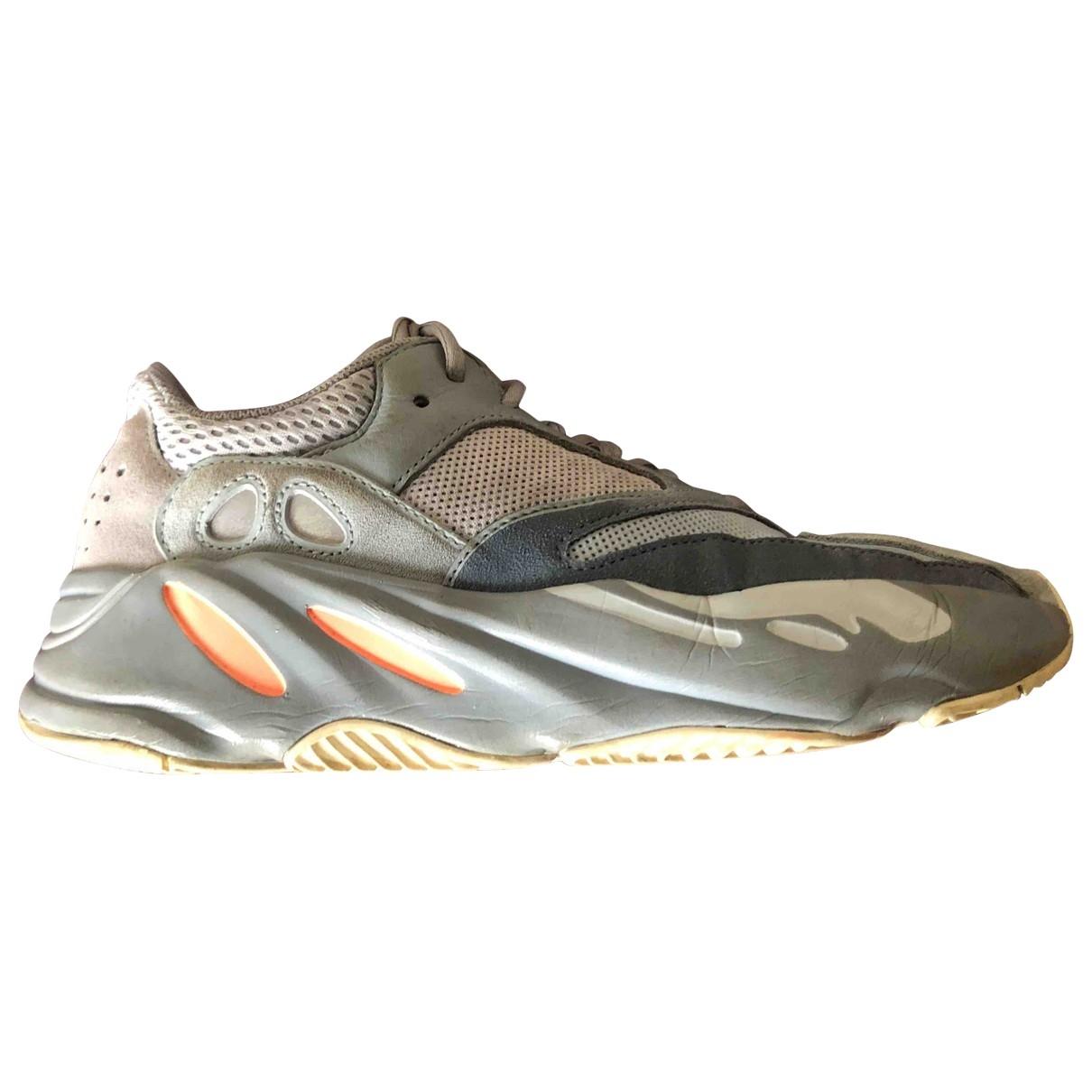 Yeezy X Adidas - Baskets   pour homme en cuir - gris