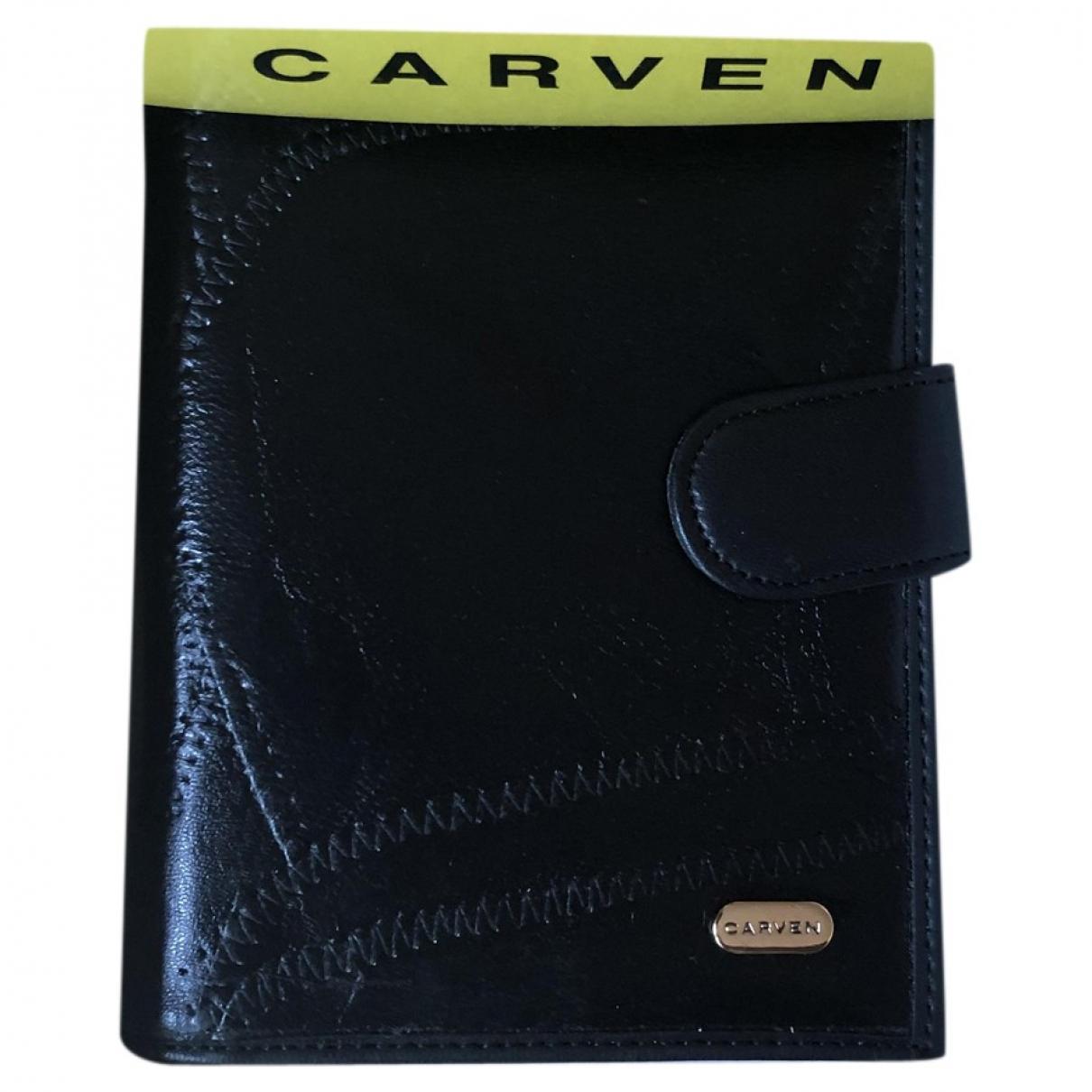 Carven - Portefeuille   pour femme en cuir - noir