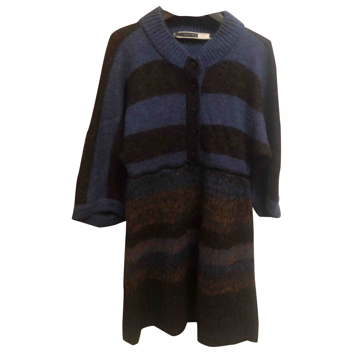 - Robe   pour femme en laine - multicolore