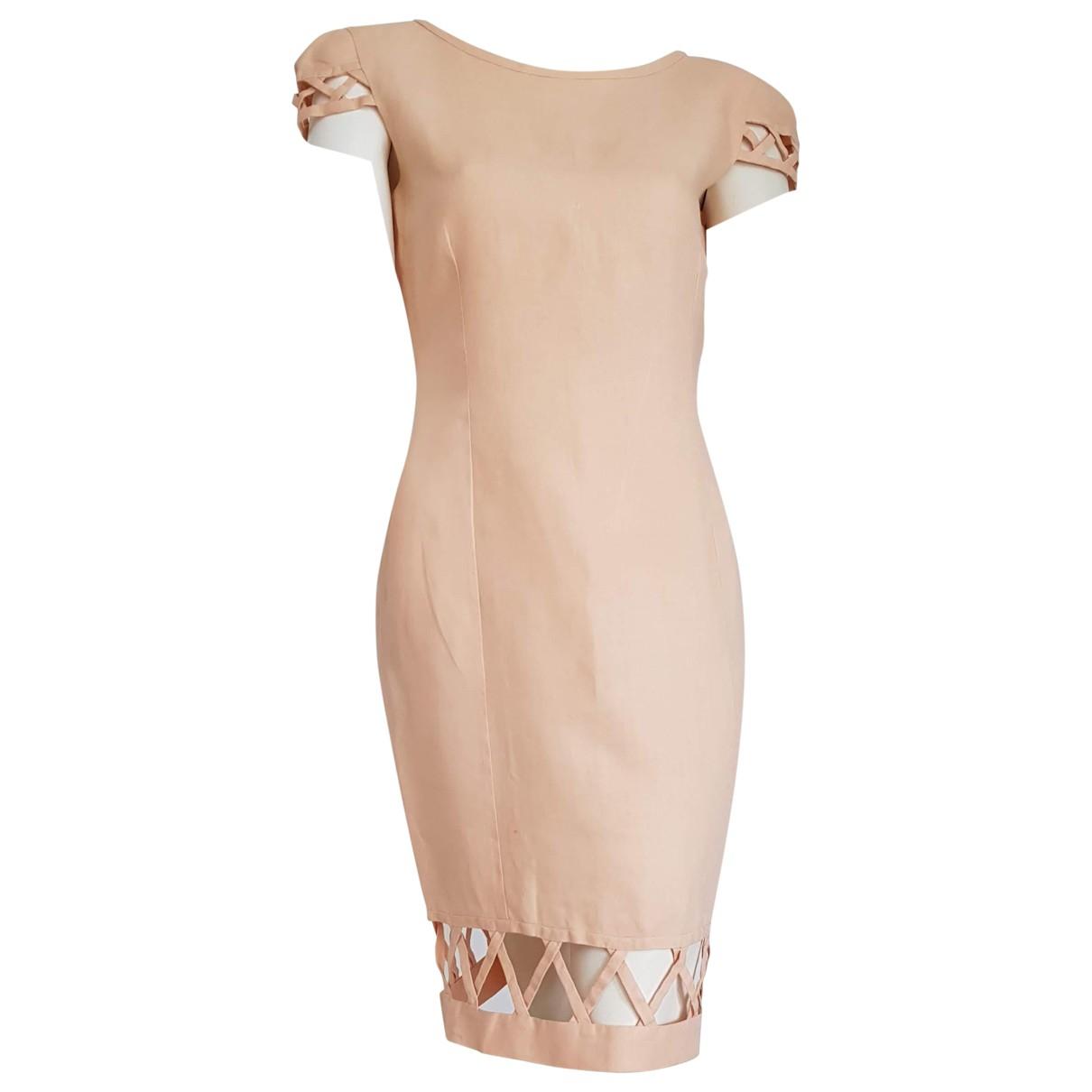Christian Lacroix - Robe   pour femme en lin - rose
