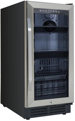 BCA3115S3S 15 Built-In Deluxe Beverage Center with 3.1 cu. ft. Capacity  Reversible Double-pane Tempered Glass Door  Automatic Defrost  and Lock  in