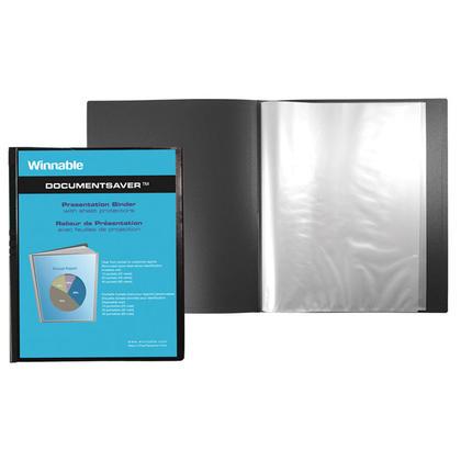 Winnable@ Document Saver Display Album, 20 Pockets, Black (738062)