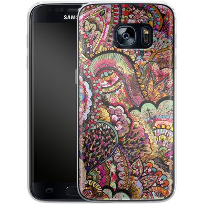 Samsung Galaxy S7 Silikon Handyhuelle - Her Hair Les Fleur von Bianca Green