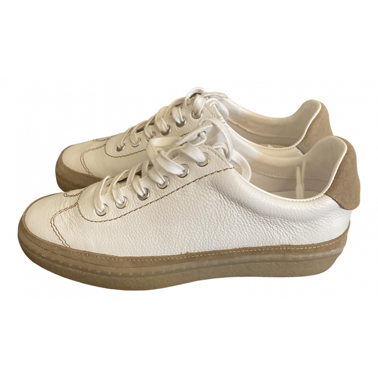 Massimo Dutti \N Sneakers in  Weiss Leder
