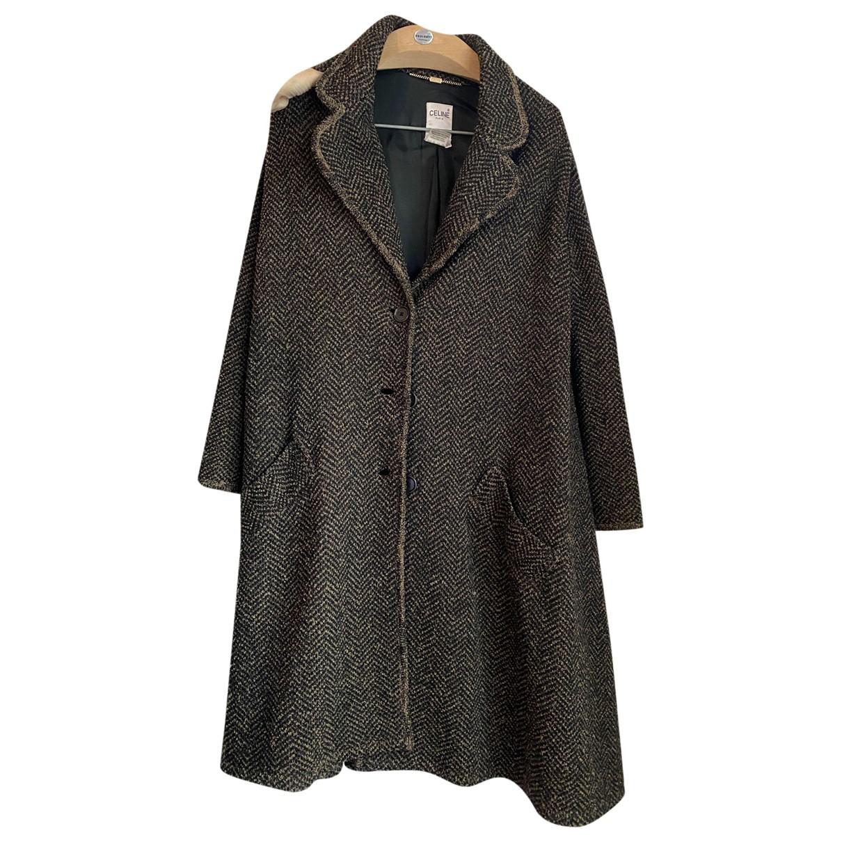 Celine - Manteau   pour femme en laine - marron