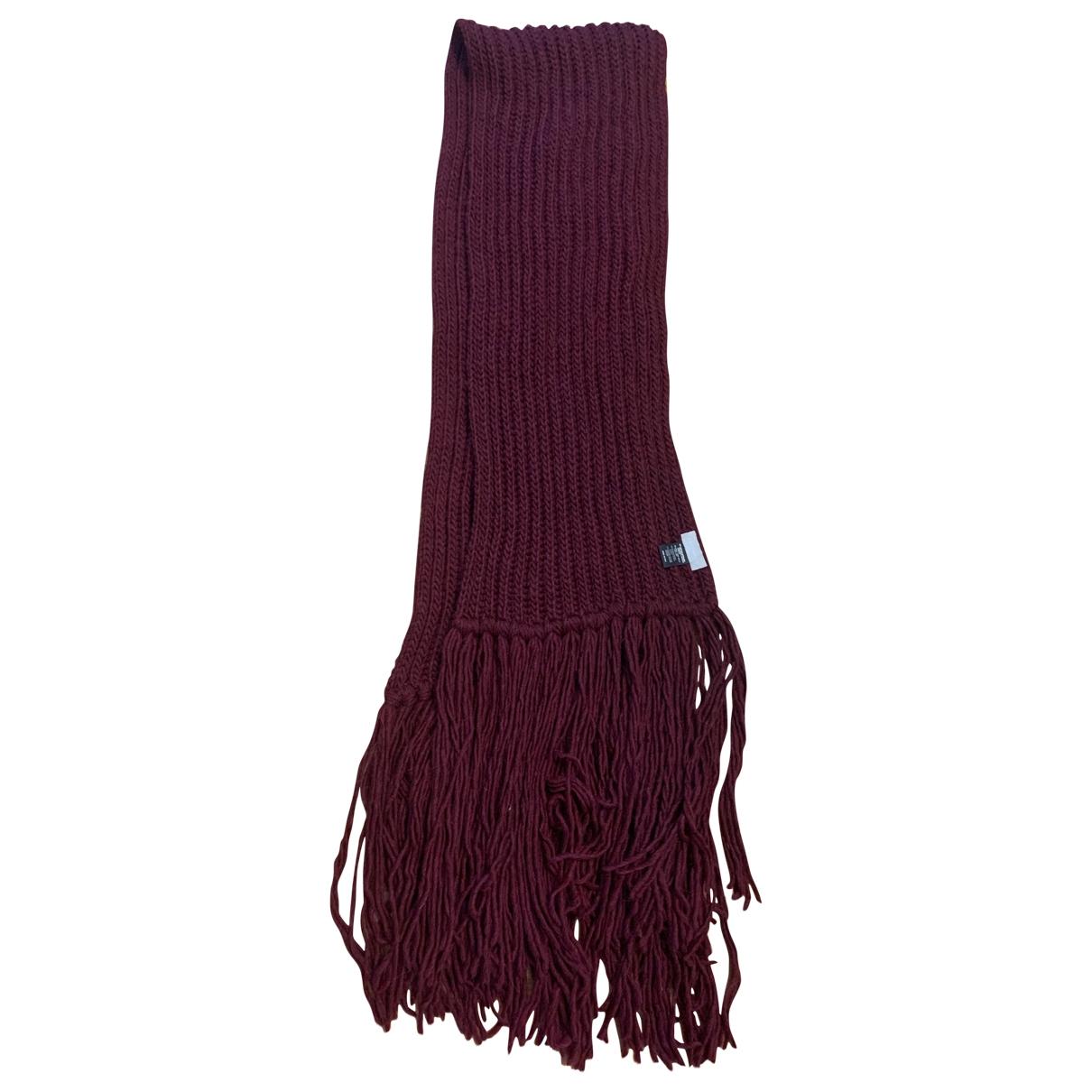 Coccinelle \N Burgundy Wool scarf for Women \N