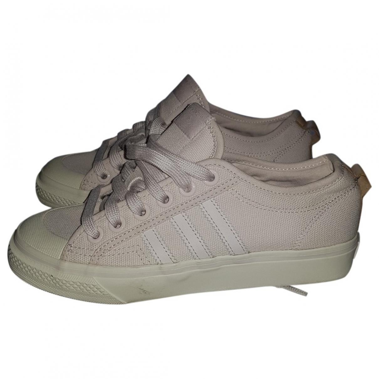 Adidas \N Beige Cloth Trainers for Women 37.5 EU