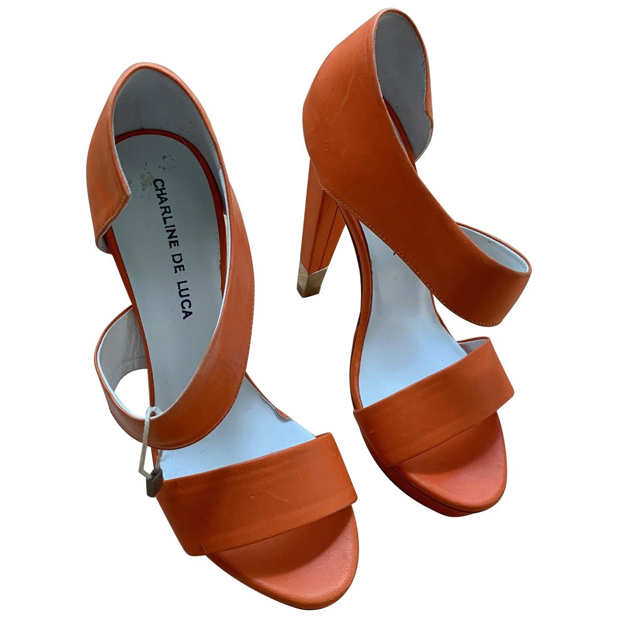 Charline De Luca \N Sandalen in  Orange Leder
