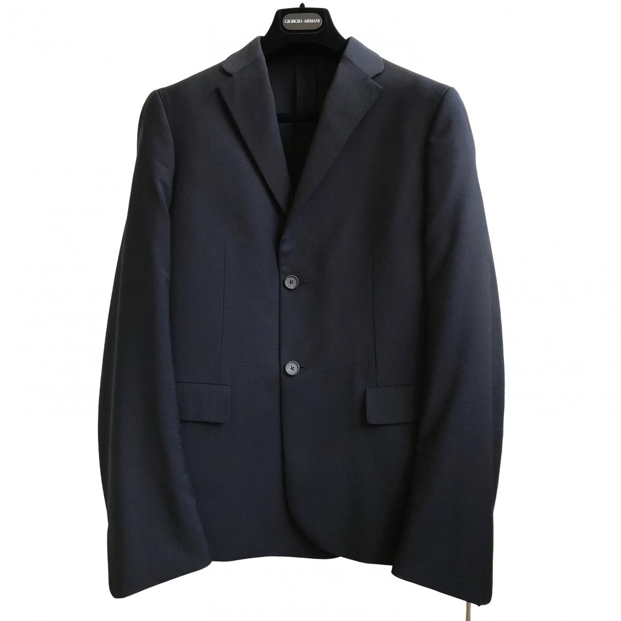 Jil Sander \N Navy Wool jacket  for Men 48 IT
