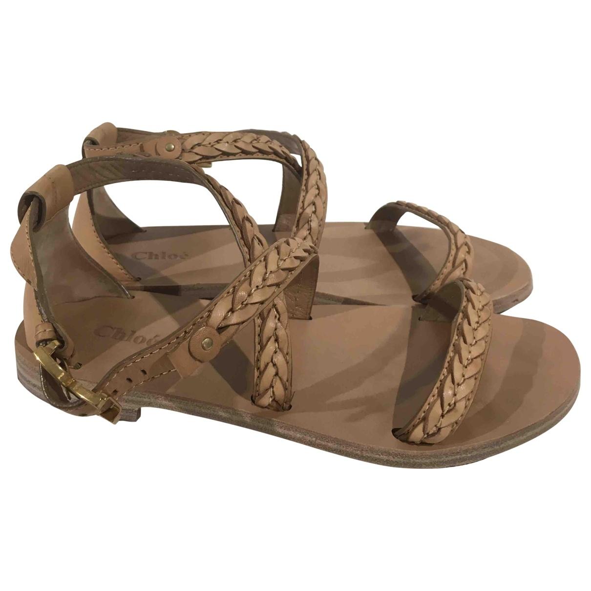 Chloé \N Leather Sandals for Women 38.5 EU