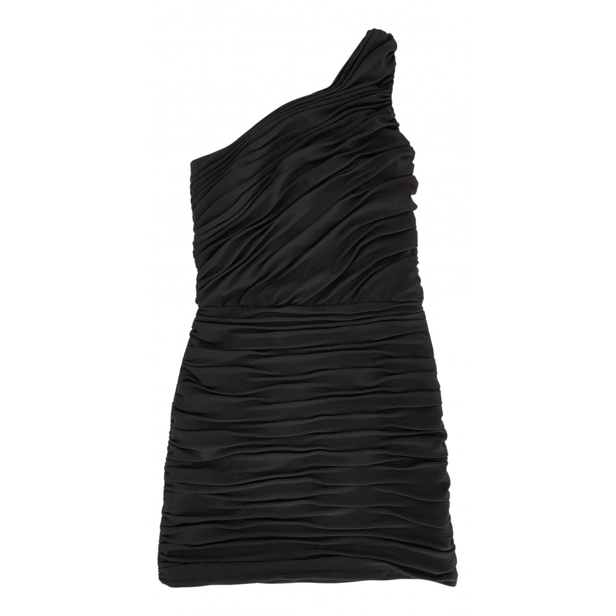 Maje \N Kleid in  Schwarz Baumwolle - Elasthan
