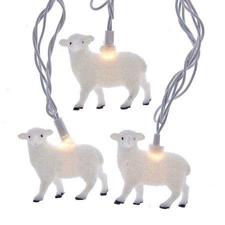 Kurt Adler Clear Indoor/Outdoor String Lights, One Size , White