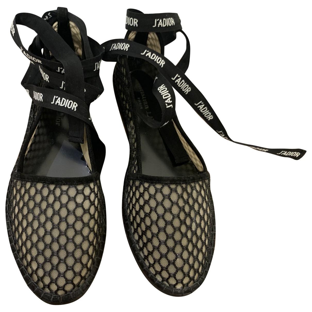 Dior - Espadrilles Nicely-D pour femme en toile - noir