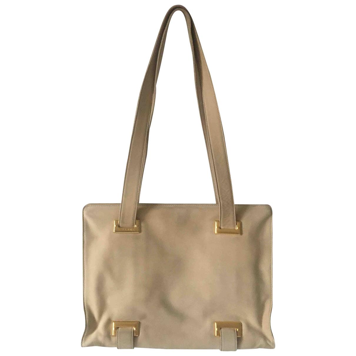 Celine \N White Suede handbag for Women \N