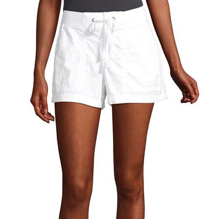 a.n.a Womens Knit Waist Short, 14 , White