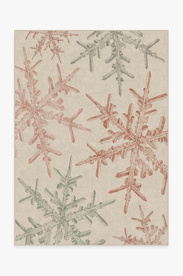 Washable Rug Cover & Pad | Snowflake Creme Rug | Stain-Resistant | Ruggable | 5'x7'
