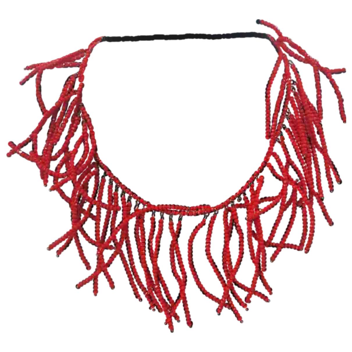 Brunello Cucinelli - Collier   pour femme en perles - rouge