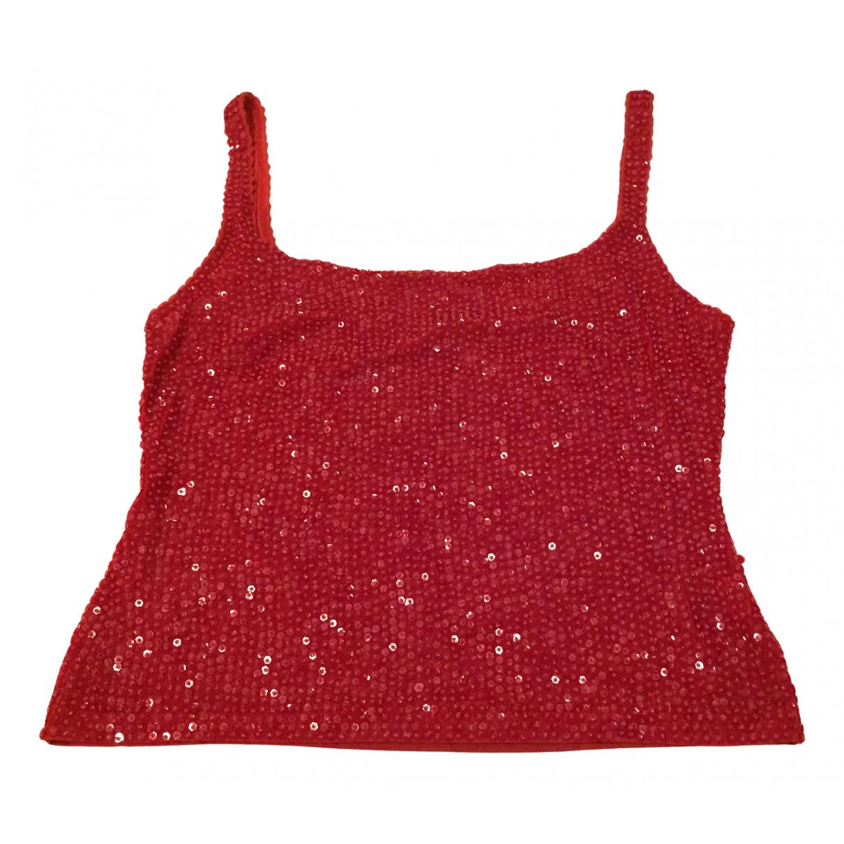Parosh - Top   pour femme en a paillettes - rouge