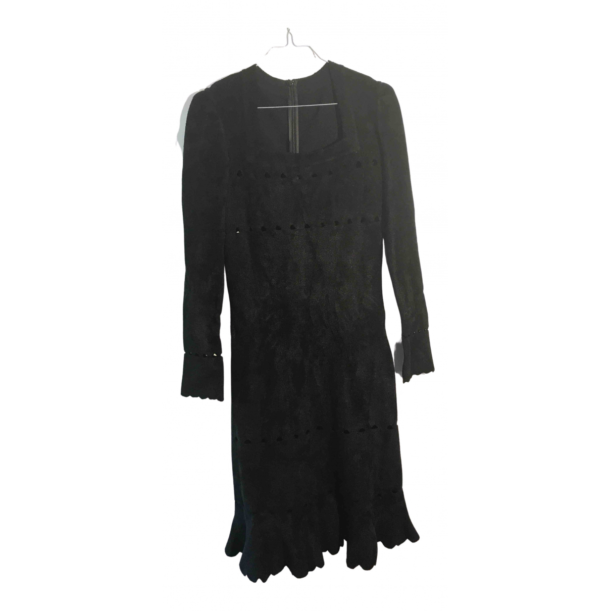 Alaia \N Kleid in  Schwarz Synthetik