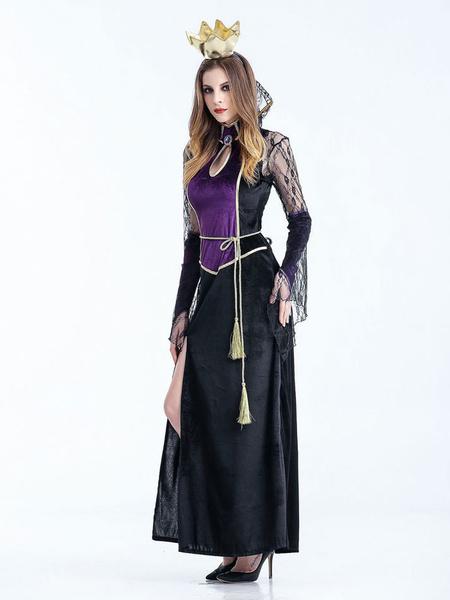 Milanoo Vampire Queen Costume Halloween Women Dresses And Tiara Set