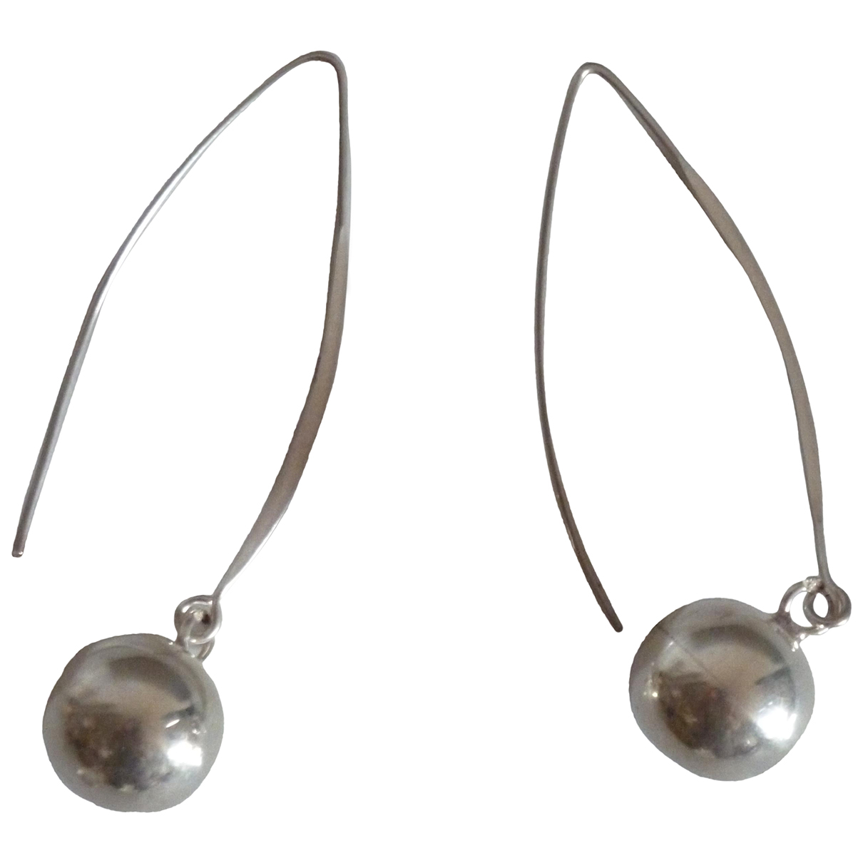 Non Signé / Unsigned Dormeuses Silver Silver Earrings for Women N