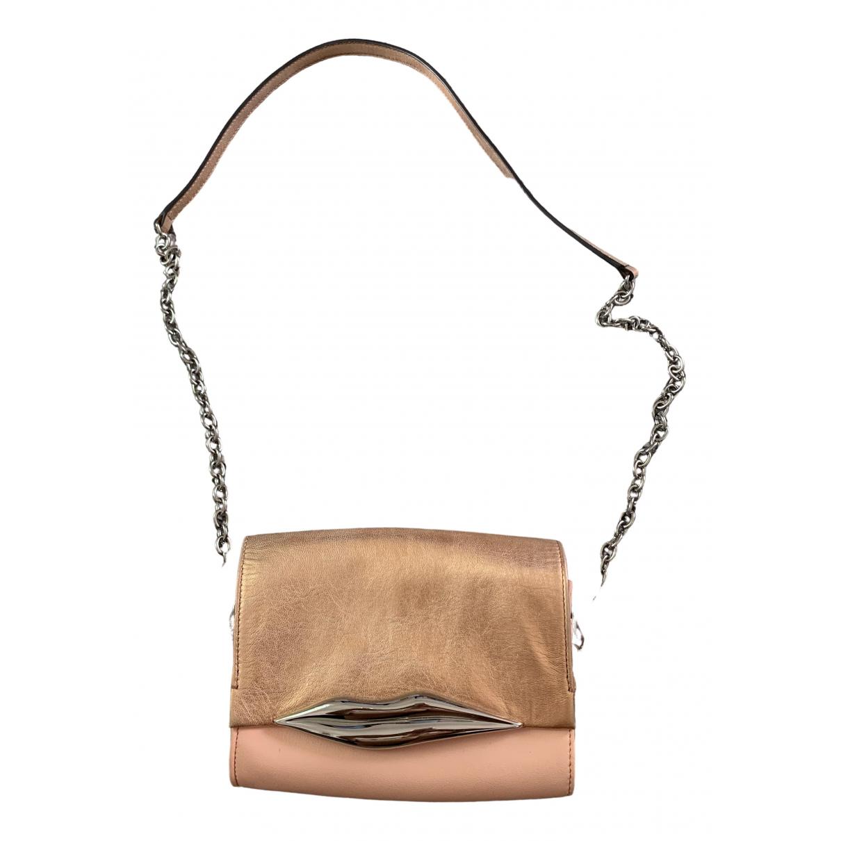 Diane Von Furstenberg \N Clutch in  Metallic Leder